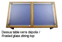 Table billard convertible avec dessus table verre dépolie
