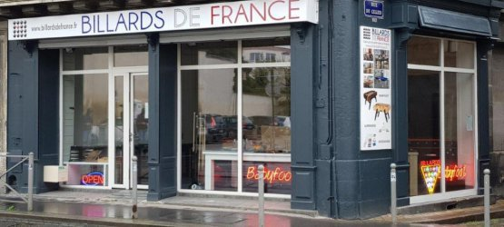 La boutique de Billards de France à Bordeaux