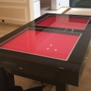Table billard convertible en verre